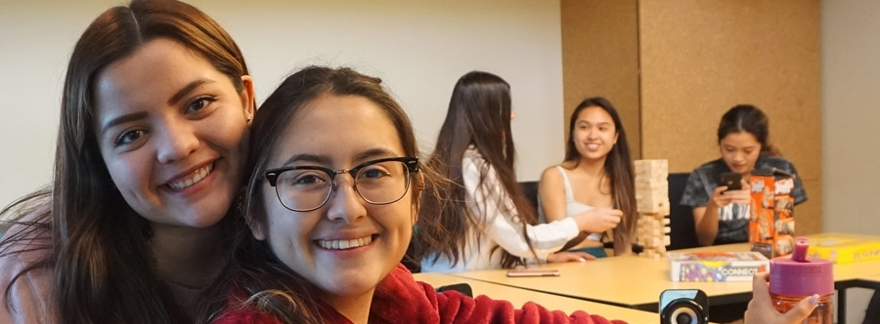 UC San Diego students working with younger students as peer mentors